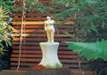 雕塑小品,木棧道,木欄桿,庭院景觀