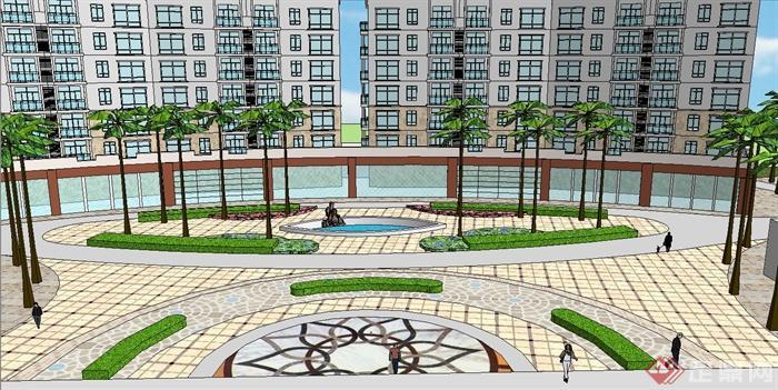 居民区建筑设计su模型[原创]
