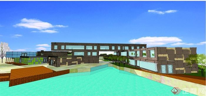 某风景区游客中心驿站建筑设计CAD方案图+Jcad怎么打印缩放图片