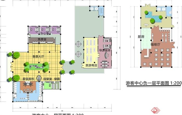 某风景区游客中心驿站建筑设计cad方案图 jpg效果图 su模型(5)