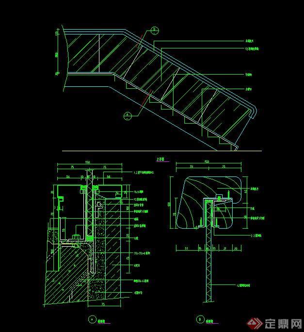 四款建筑节点楼梯设计CAD施工图