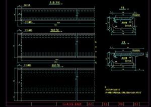 16米跨正交板一般构造图 (cad图纸)