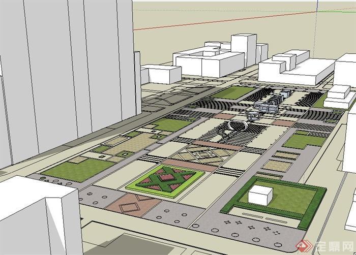 校园中心广场景观设计