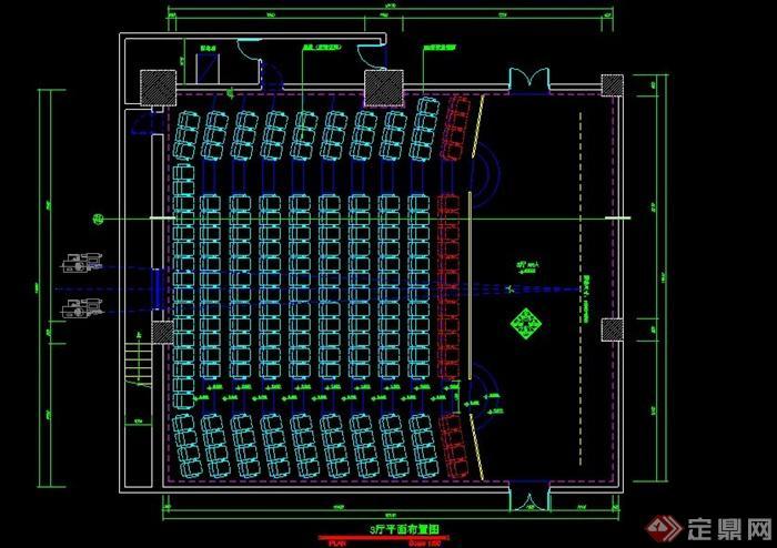某国际电影院装饰工程图(cad图纸)(1)