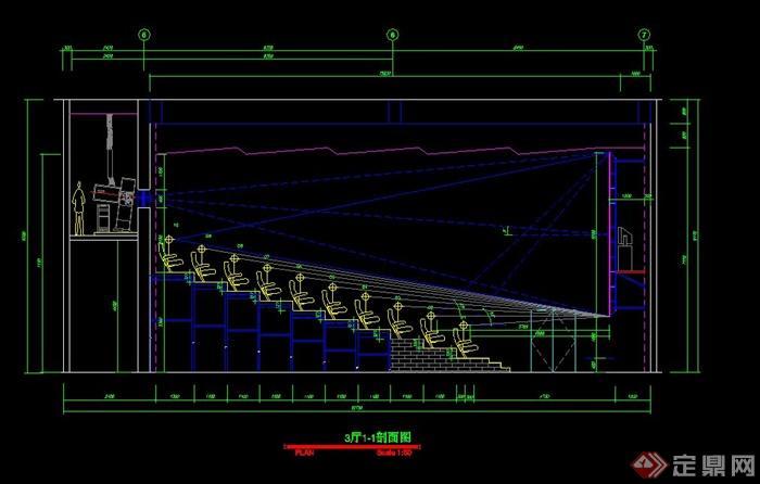 某国际电影院装饰工程图(cad图纸)(2)