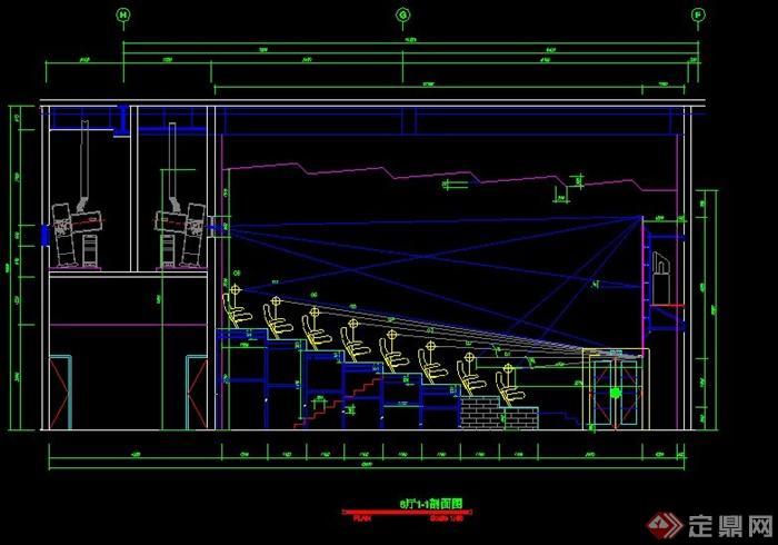 某国际电影院装饰工程图(cad图纸)(3)
