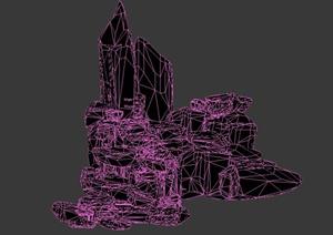 园林景观节点假山设计3DMAX模型