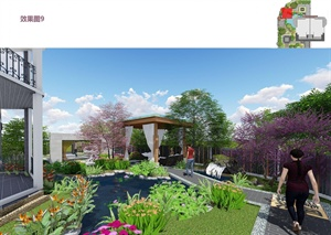 江山風華中式別墅庭院景觀
