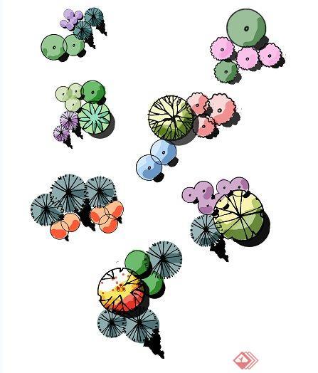 7款组团植物psd平面素材[原创]