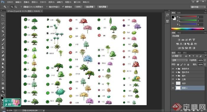 40余款植物树木平面与立面ps素材