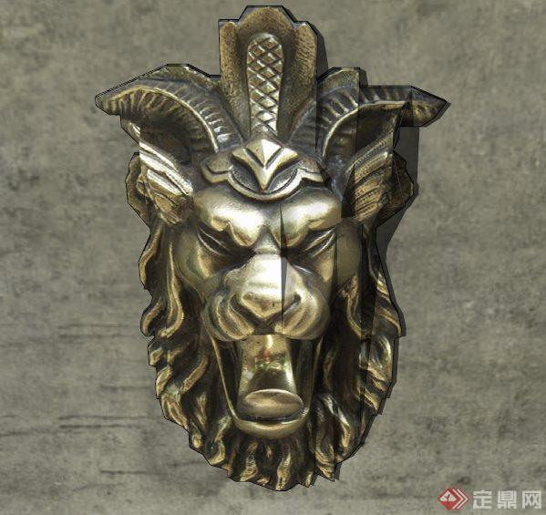 狮子头浮雕su模型