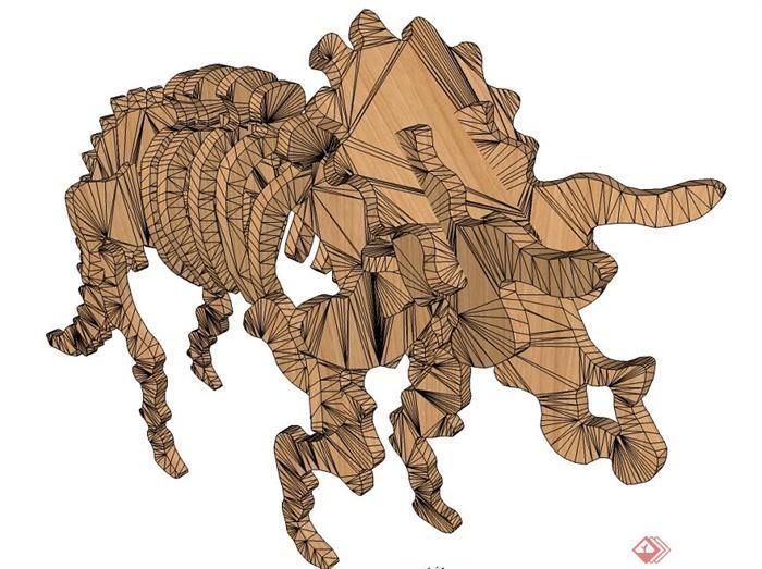 动物雕塑su模型(1)