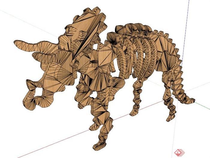 动物雕塑su模型(3)