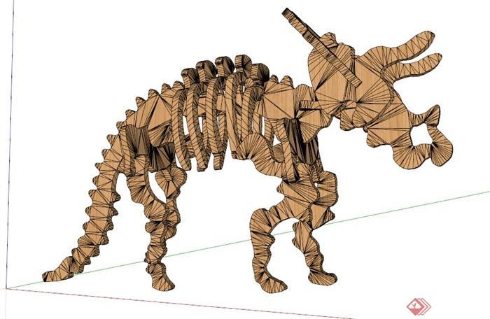 动物雕塑su模型(2)
