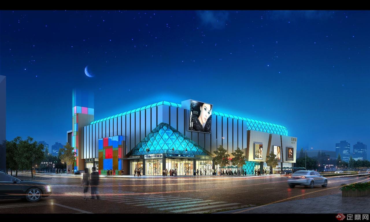 商场建筑设计-室外效果图