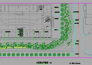 某厂区绿化设计cad施工图
