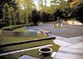 花园,矮墙,草坪,挡墙,坐凳