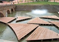 汀步,噴泉水池景觀,園橋,臺階