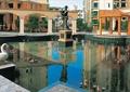 喷泉水池景观,雕塑水池景观,亭子,雕塑喷泉,住宅景观