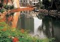 驳岸景观,卵石驳岸,自然石,水池水景,水池驳岸