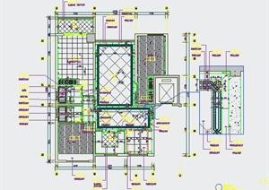 新古典风格三室两厅cad施工图