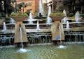 跌水景观,水池景观,花钵,喷泉水景,住宅景观