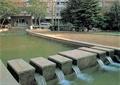 汀步,景觀水池,汀步橋