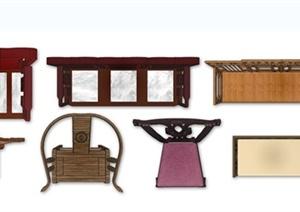 10款中式风格家具ps平面素材图片