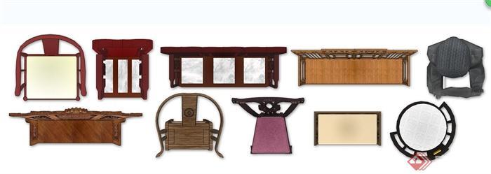 10款中式风格家具ps平面素材