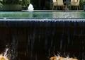 跌水水池景观,景石,颜色,桌椅,住宅景观