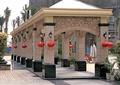 长廊,景观廊,壁灯,灯笼,廊架