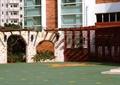 木廊架,景墙,墙体外立面石材干挂