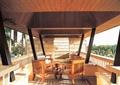 長廊,桌椅組合,木桌椅,擋墻