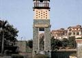 塔楼,景观塔,观景塔,水池,花钵