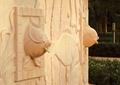 浮雕墙,景墙,鱼,动物雕塑