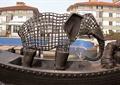 雕塑,大象,人物雕塑,船只,小品