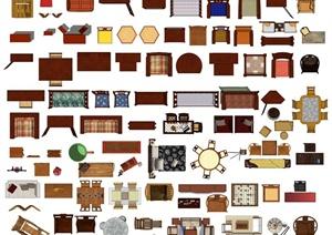 50多款中式家具ps平面素材