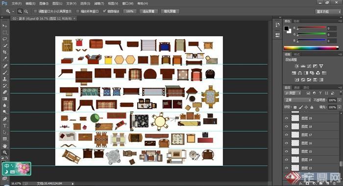 50多款中式家具ps平面素材(2)