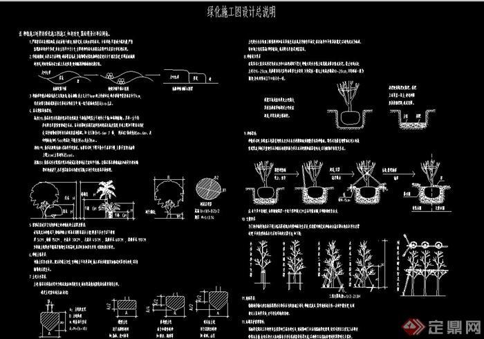 园林景观绿化植物种植设计cad施工图说明[原创]