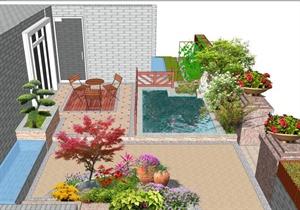 带鱼池的小庭院