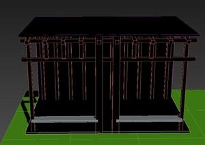 园林景观节点廊道长廊廊架设计3DMAX模型