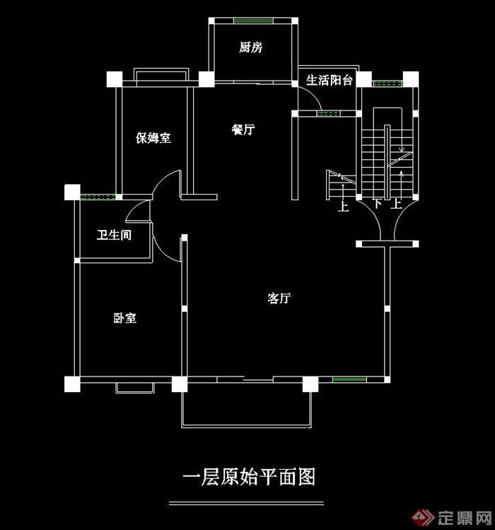 某家庭住宅室内设计cad平面图
