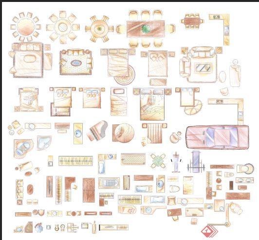 家具陈设ps平面素材