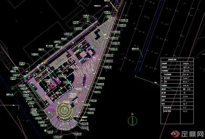 某广场景观设计CAD施工图含水电