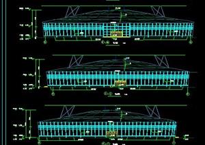 现代某地电视塔建筑设计CAD施工图