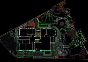 别墅户外景观设计 效果图 施工图