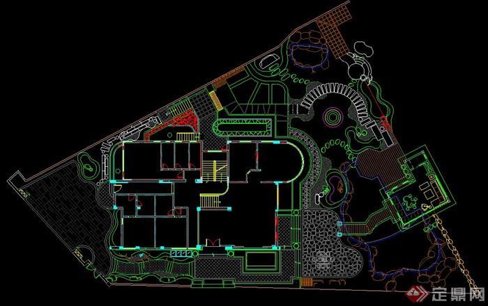 某别墅景观设计CAD施工图含水电