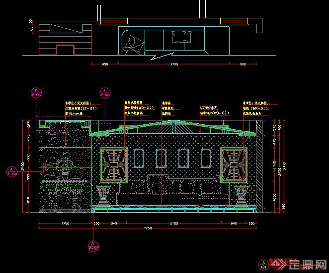 东南亚风情别墅室内设计施工图 带效果图