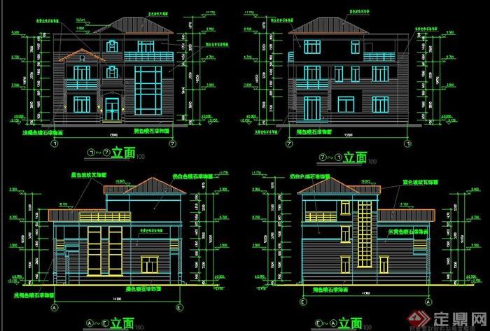 简欧风格别墅设计施工图