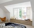 卧室,飘窗,百叶窗,椅子